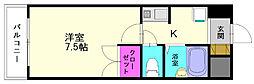 ボヌール春日原[3階]の間取り