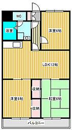 ニュー松戸コーポD棟[4階]の間取り