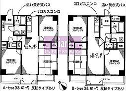 磯子シティハウス[601号室]の間取り