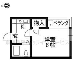 イン東山[203号室]の間取り