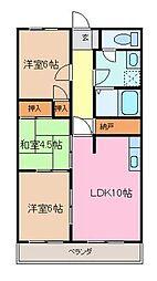 シティAZUMA[205号室]の間取り