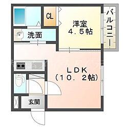 仮)厚別中央1−3MS[3階]の間取り