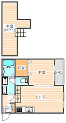 Paraty箱崎(パラチー)[2階]の間取り