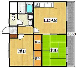 リード62[1階]の間取り
