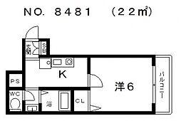 プロムナード松屋町[405号室号室]の間取り