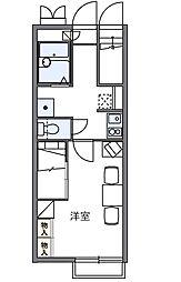 東京都国分寺市戸倉2丁目の賃貸アパートの間取り