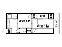 松亀荘[2階]の間取り