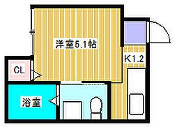 アーバンハウス新松戸[202号室]の間取り