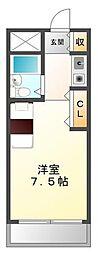 アンボワーズ武庫川[3階]の間取り