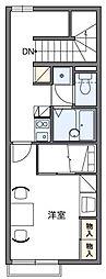 レオパレスMUTSUMI[2階]の間取り