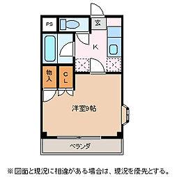 長野県松本市出川町の賃貸マンションの間取り