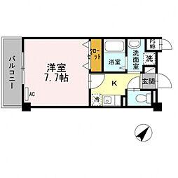大阪府泉佐野市日根野の賃貸アパートの間取り