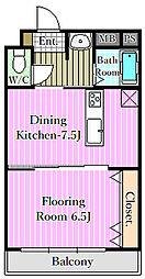 宇喜田エメラルドマンション[2階]の間取り