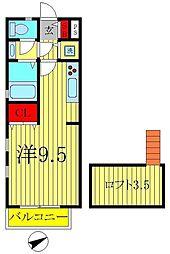 Quatre・Saisons新松戸[2階]の間取り