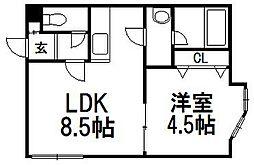 LEE TOWN D[206号室]の間取り