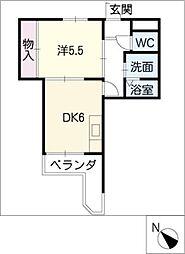マンション横井[5階]の間取り