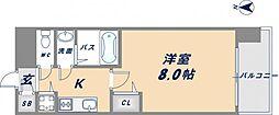 メゾン・ド・ヴィレ深江[309号室]の間取り