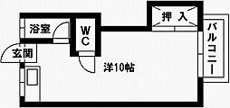 コーポワダ[1階]の間取り