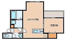 仮)リテラ吉塚東 1階1LDKの間取り