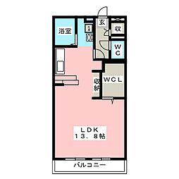 フィールドスターIII 2階ワンルームの間取り