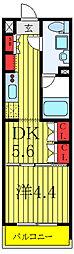 セジョリ板橋坂下II 4階1DKの間取り