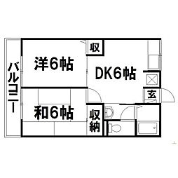 静岡県浜松市東区下石田町の賃貸アパートの間取り