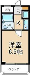 大阪府寝屋川市美井元町の賃貸マンションの間取り