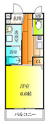 大阪府羽曳野市高鷲9丁目の賃貸アパートの間取り