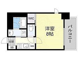 名古屋市営東山線 新栄町駅 徒歩11分の賃貸マンション 9階1Kの間取り