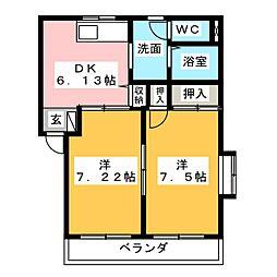 FLORA FUJI[1階]の間取り