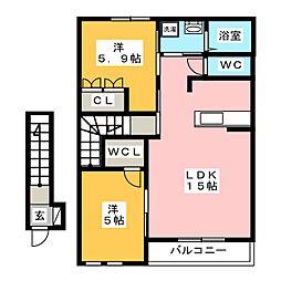 リビングストン[2階]の間取り
