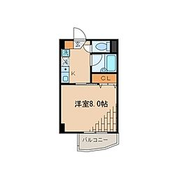 エトワール竹の塚[302号室]の間取り