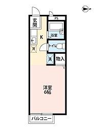 サンモール所沢[1階]の間取り