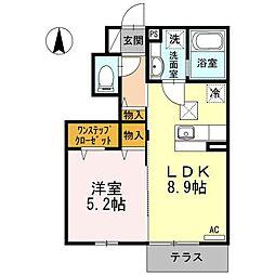 東京都杉並区井草1丁目の賃貸アパートの間取り