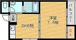 プチメゾンアオバ 3階1DKの間取り