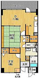 チトセプラザ[4階]の間取り
