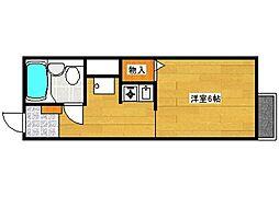 兵庫県神戸市灘区大和町1丁目の賃貸アパートの間取り