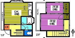 [一戸建] 埼玉県川口市大字里 の賃貸【/】の間取り