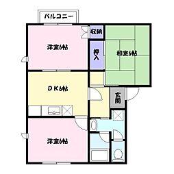 バローレ御立A棟[2階]の間取り