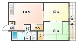 末広コーポ[2階]の間取り