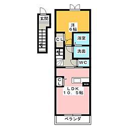 スクエア新正I[2階]の間取り