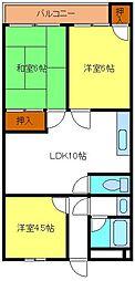 双輪5号館[5階]の間取り