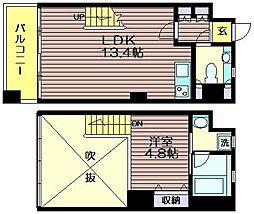東京都世田谷区南烏山2の賃貸マンションの間取り