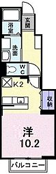グリシーヌ[B102号室]の間取り