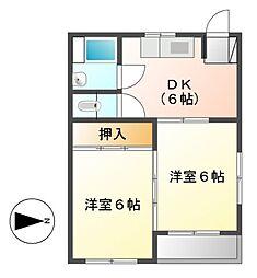 明治第一ビル[3階]の間取り