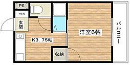津之江パークハイツ2号館[2階]の間取り
