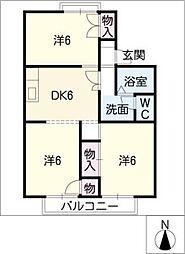 エクセル勝川[2階]の間取り