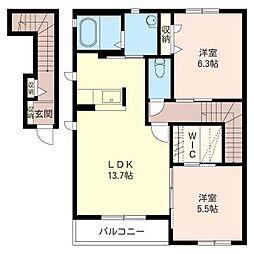 A−STYLE[2階]の間取り