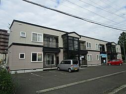 北海道札幌市北区百合が原6丁目の賃貸アパートの外観
