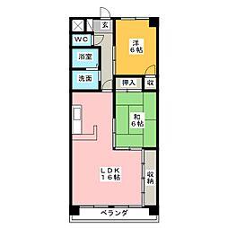 サンライズ伊東 弐番館[4階]の間取り
